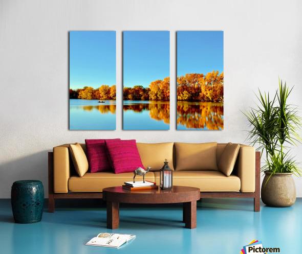 Autumn Canoe Split Canvas print