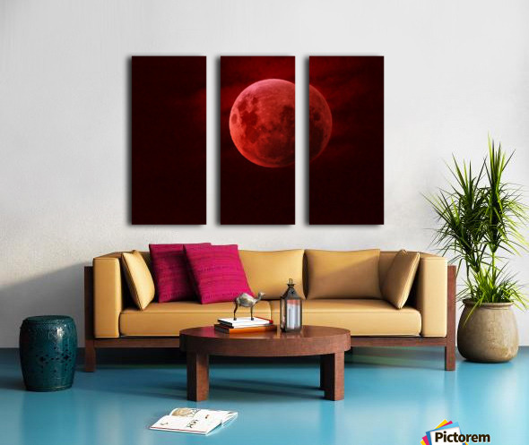 One Red Moon Toile Multi-Panneaux
