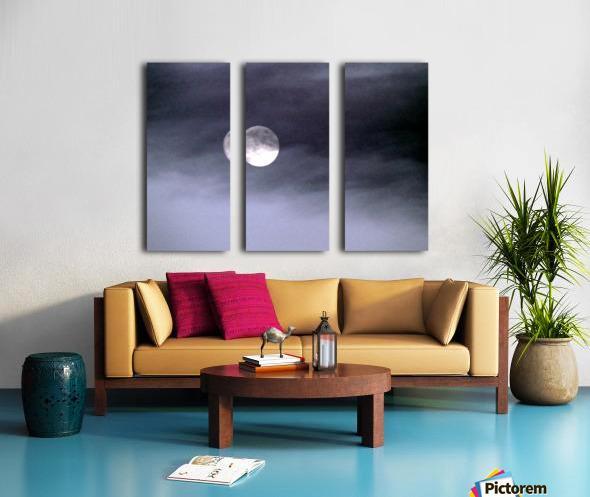 Full Moon Split Canvas print