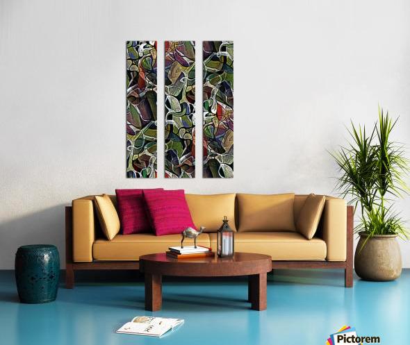 Linear Geometric Abstract  Split Canvas print