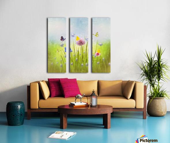 Spring meadow Split Canvas print