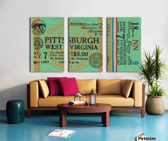 1967 West Virginia vs. Pitt Split Canvas print