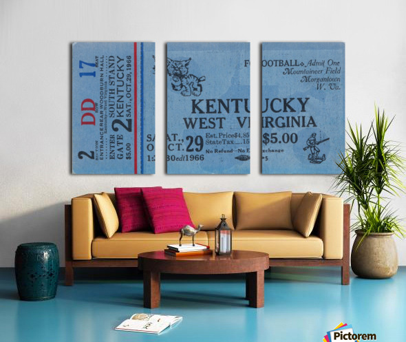 1967 Kentucky vs. West Virginia Split Canvas print