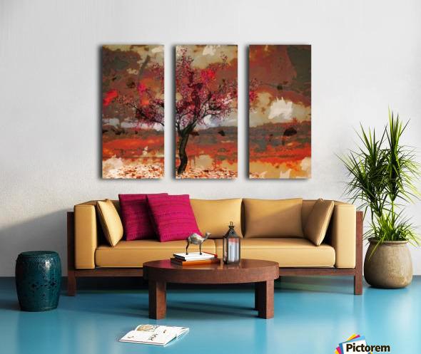 Summer cherry tree Split Canvas print