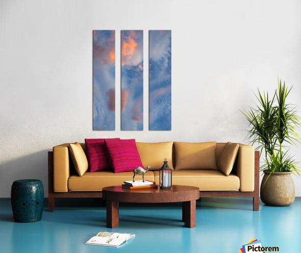 Colored clouds. Split Canvas print