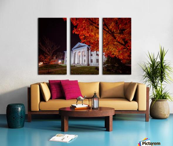 Courthouse Autumn Night Split Canvas print