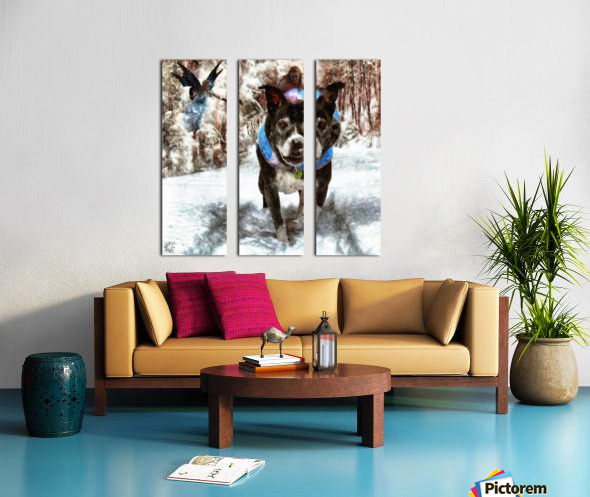 Tux with the Fairies Split Canvas print