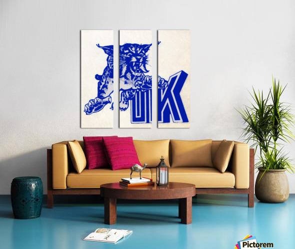 1970s kentucky wildcat Split Canvas print