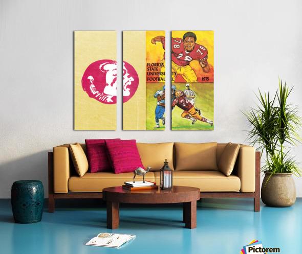 1975 Florida State Football Art Split Canvas print