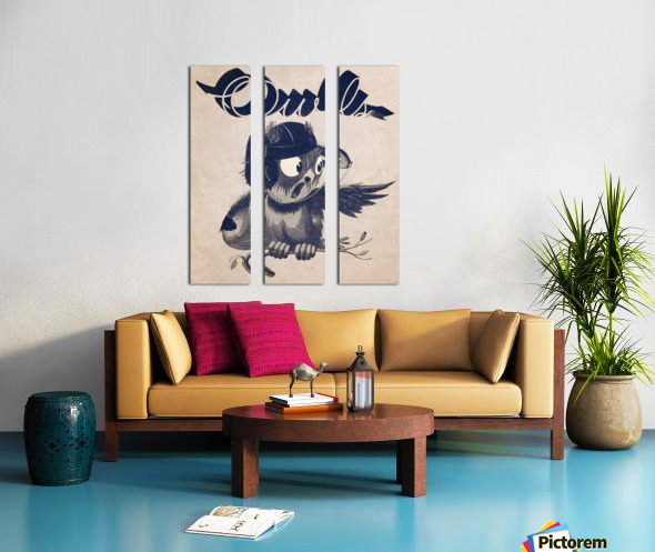 1933  Rice Owls Football Split Canvas print