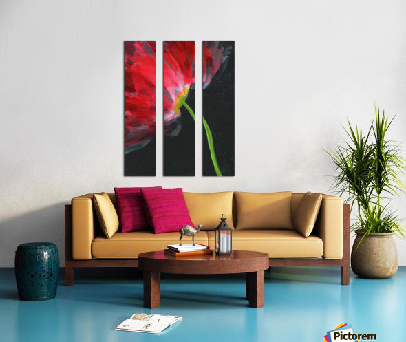 Fantastical Flower Split Canvas print