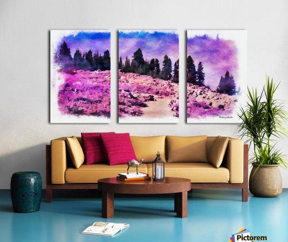 Lavender Field Split Canvas print