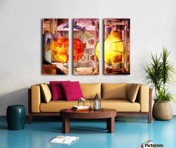 Apple and Pear Split Canvas print