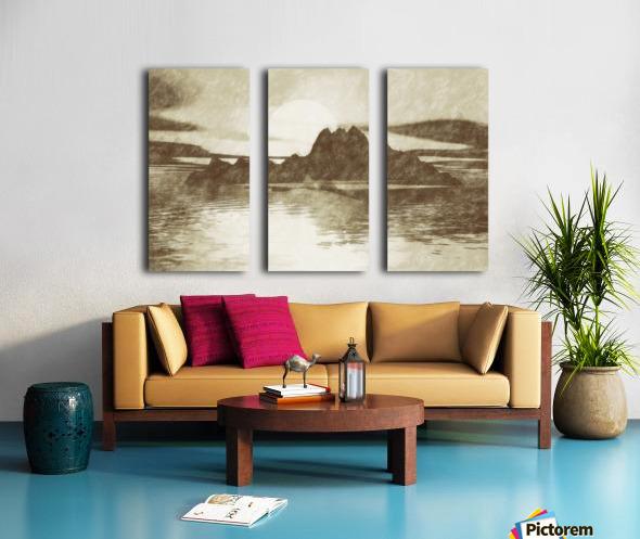 Island Split Canvas print