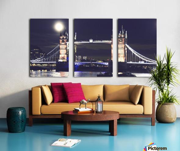 London by Night Split Canvas print