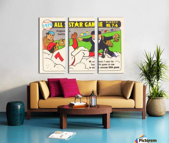 1979 All Star Game Baseball Art Split Canvas print