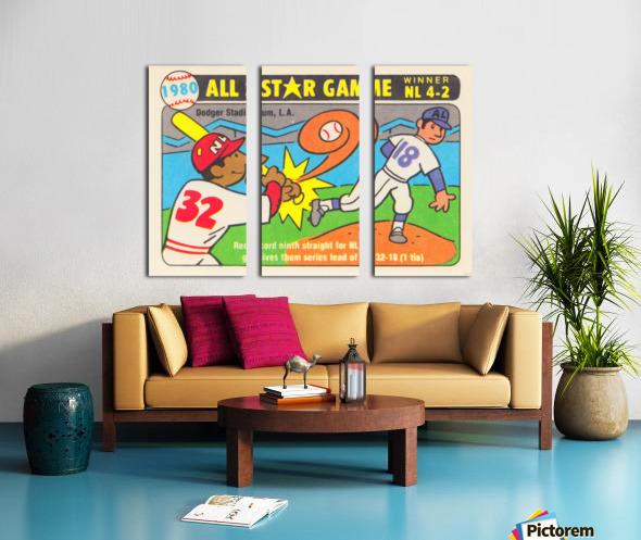 1980 Baseball All Star Game Art Split Canvas print