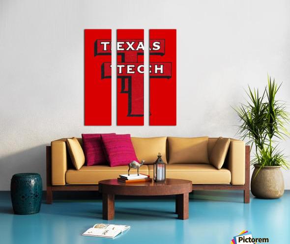 1948 Texas Tech Art Split Canvas print