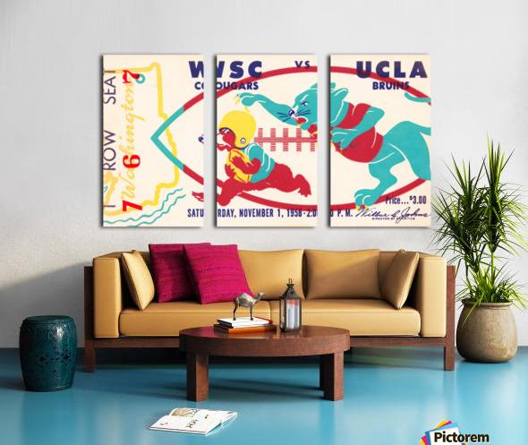 1958 UCLA vs. Washington State Split Canvas print