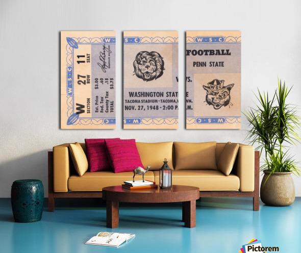 1948 Washington State vs. Penn State Split Canvas print