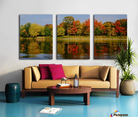 Fall in love with fall Split Canvas print