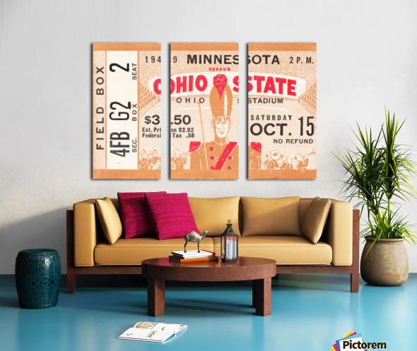 1949 Ohio State vs. Minnesota Split Canvas print