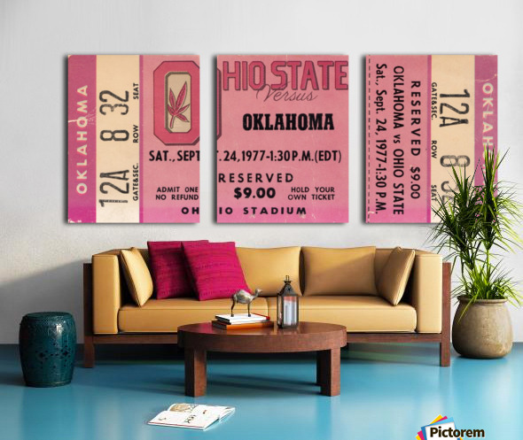 1977 Oklahoma vs. Ohio State Split Canvas print