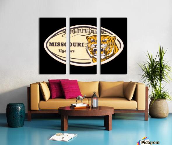 1965 Missouri Tiger Football Art Split Canvas print