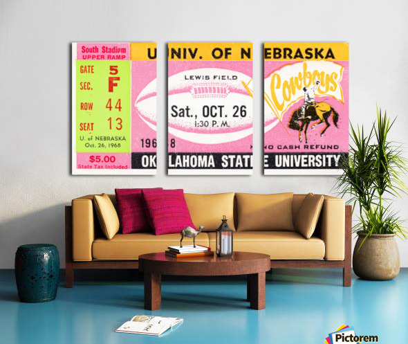 1968 Nebraska vs. Oklahoma State Split Canvas print