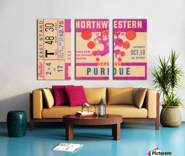1942 Northwestern vs. Purdue Split Canvas print