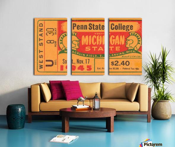 1945 Michigan State vs. Penn State Split Canvas print