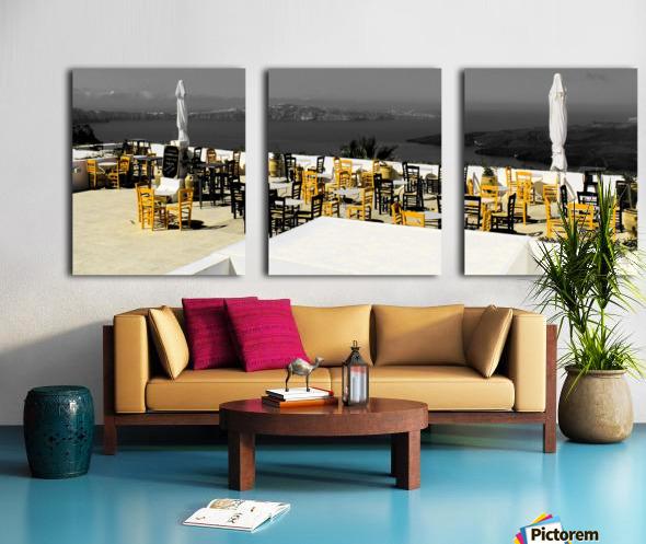 The chairs Split Canvas print
