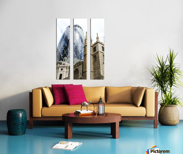 London old and new Split Canvas print