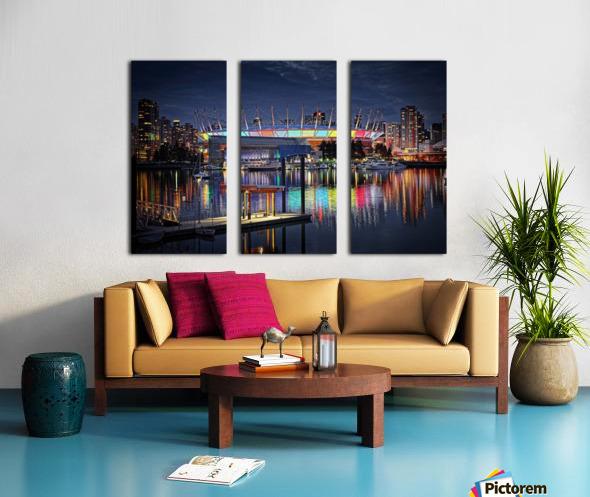 Colorful BC Place Split Canvas print