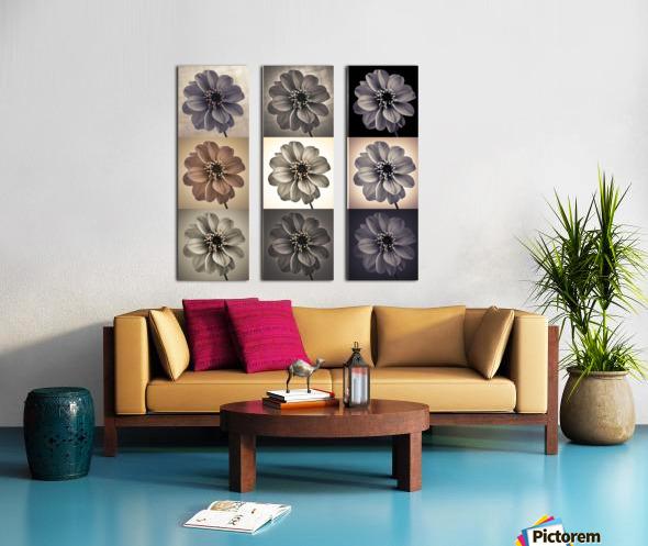 Collage of Dahlias flowers Split Canvas print