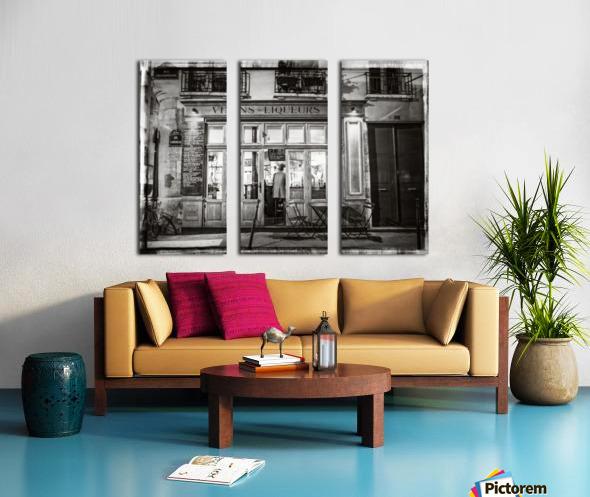 Cafe on street of Montmartre, Paris Split Canvas print