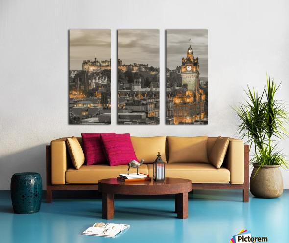 Edinburgh Castle and The Balmoral Hotel, Scotland Split Canvas print