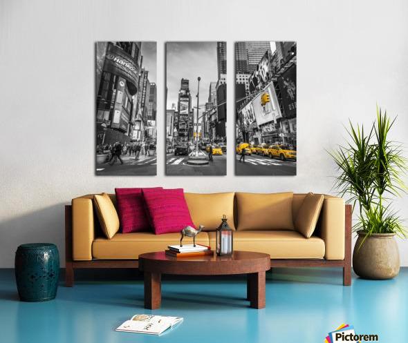 Traffic signal on broadway Times Square,  Manhattan, New York City Split Canvas print