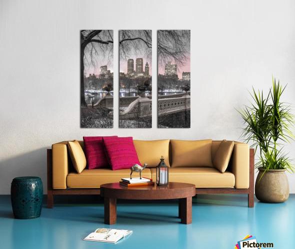 Central park with Manhattan skyline, New York Split Canvas print