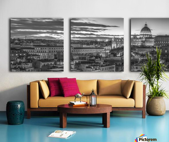 Vatican city with St. Peters Basilica, Rome, Italy Split Canvas print