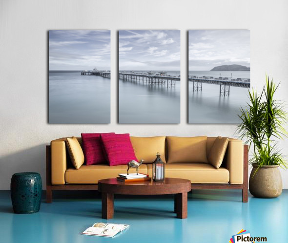 Llandudno Pier, North Wales Split Canvas print