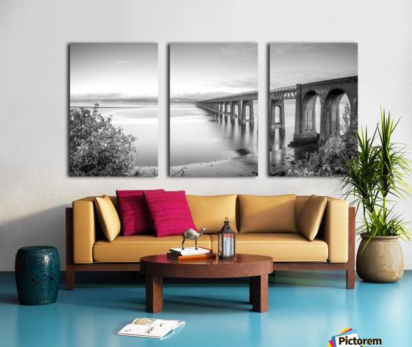 Tay Rail Bridge, Dundee, Scotland Split Canvas print