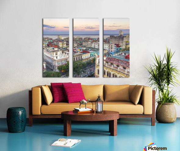 Havana from above Split Canvas print