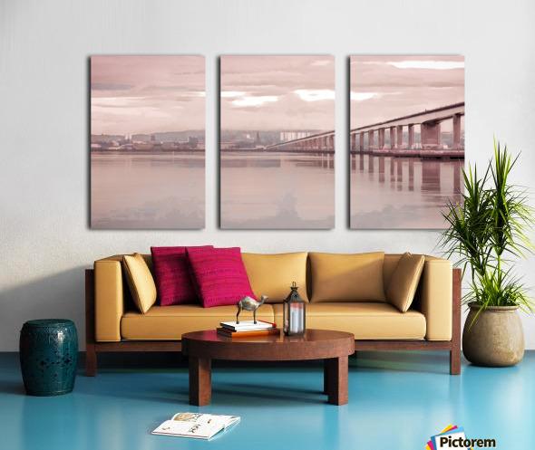 Tay Road Bridge over river Tay, Dundee, Scotland Split Canvas print