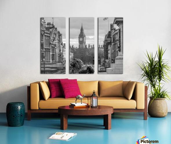 Trafalgar Square with Big Ben in background Split Canvas print
