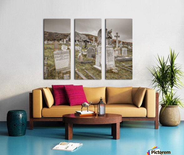 Cemetery in Llandudno, North Wales Split Canvas print