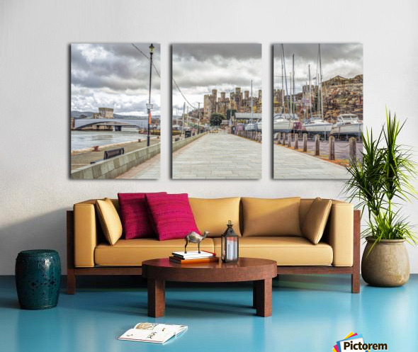 Conwy harbour, North Wales coast Split Canvas print