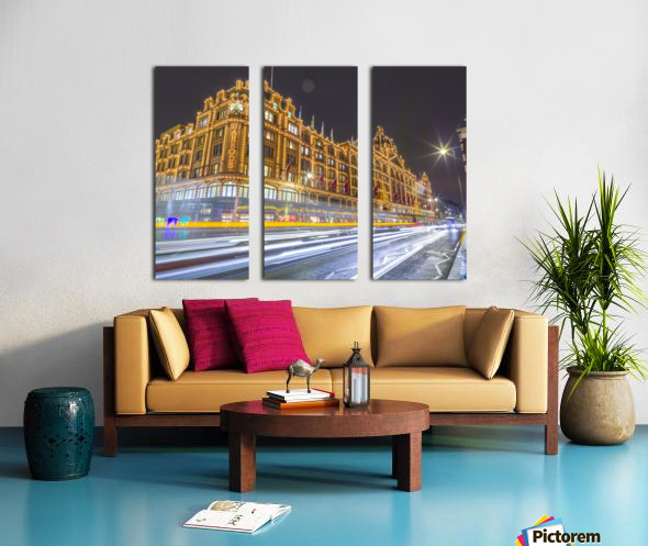 Harrods, London Split Canvas print