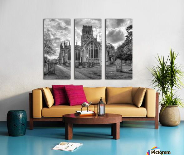 Old church in Northleach town, Cotswolds, UK Split Canvas print