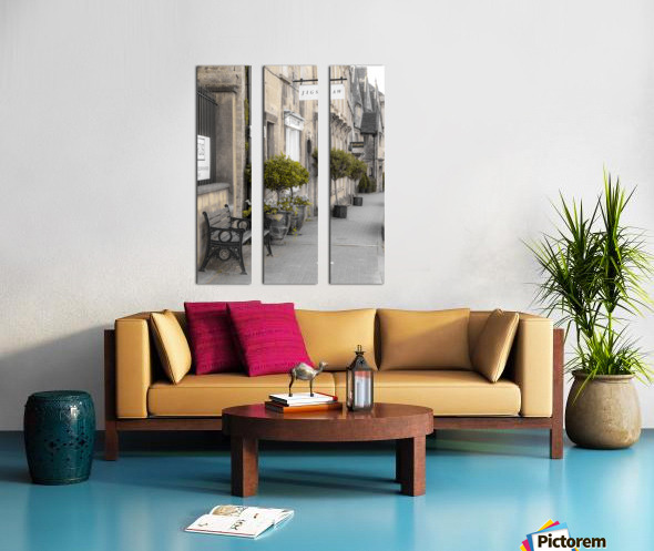 Old buildings in Tetbury town, Cotswolds Split Canvas print